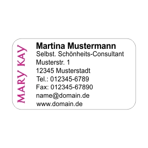 Mary Kay Adress Etiketten Design #1 (480 Stk.)