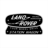 Land Rover Station Wagon Retro Typenschild (Stk.)